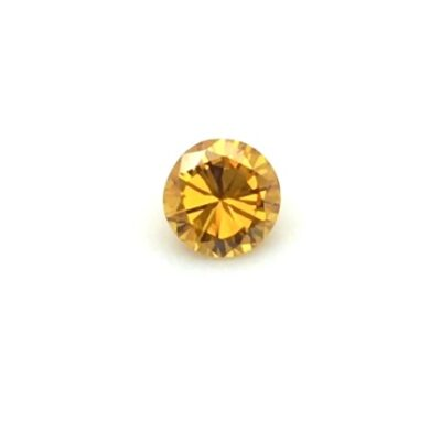 0.33ct round deep yellow-orange diamond