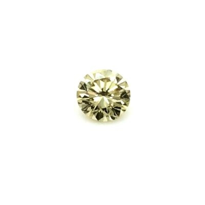 0.39ct brownish yellow round diamond