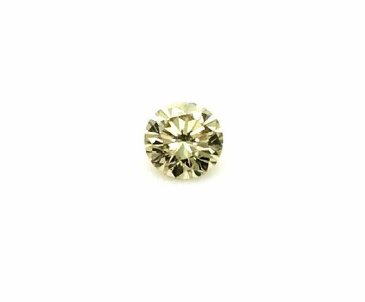 0.39ct brownish yellow round diamond