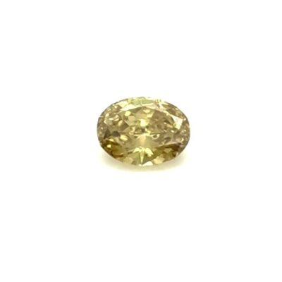 0.65ct oval brownish yellow diamond