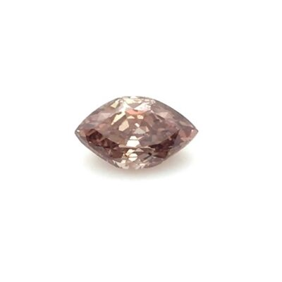 0.80ct marquise shape deep pink-brown diamond