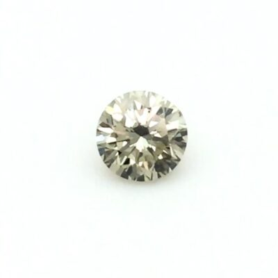 0.84ct light yellow-grey round diamond