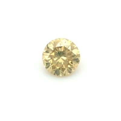 0.84ct round orangy yellow diamond