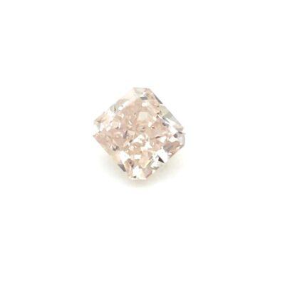 1.02ct radiant fancy brown-pink diamond