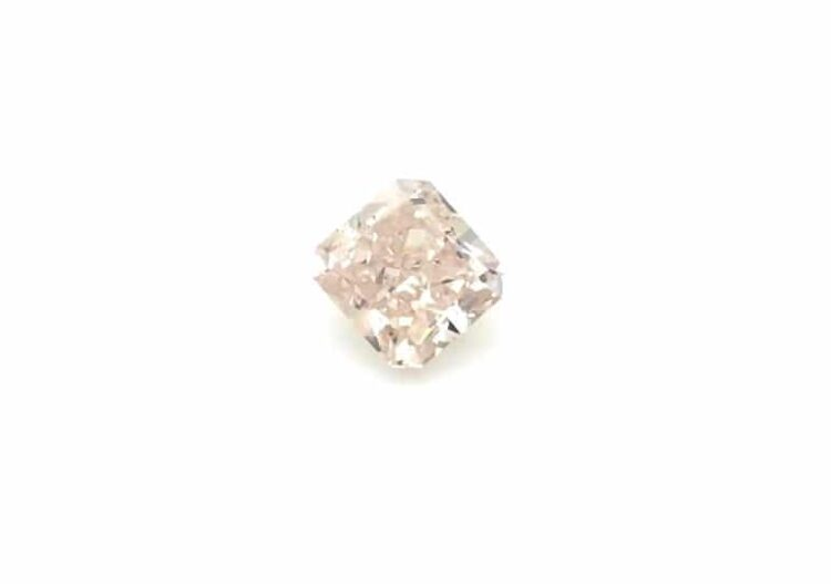 1.02ct radiant fancy brown-pink diamond