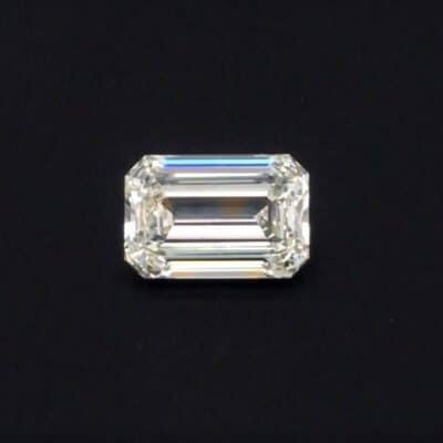 2.23ct white emerald cut diamond