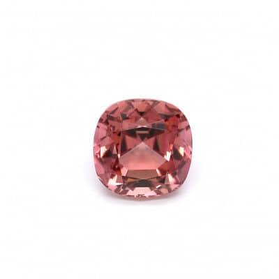 2.49ct orangy pink cushion tourmaline
