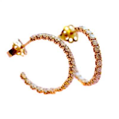 blossom earrings hoop