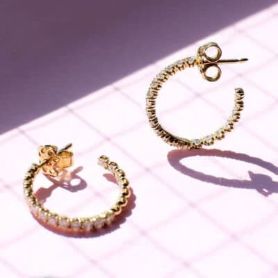 blossom earrings hoop