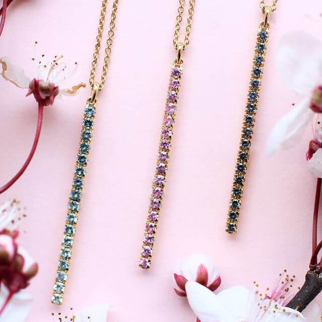 blossom long pendant