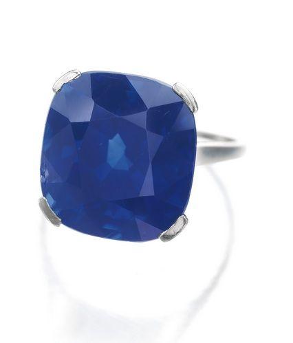 21.42-carat Kashmir Sapphire Ring