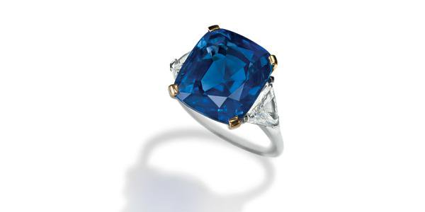 35.09-carat Kashmir Blue Sapphire Ring