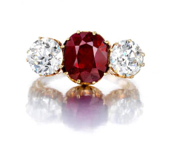 A ruby and diamond ring, Mermod & Jaccard