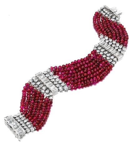 Art deco ruby and diamond bracelet - credit bonhams