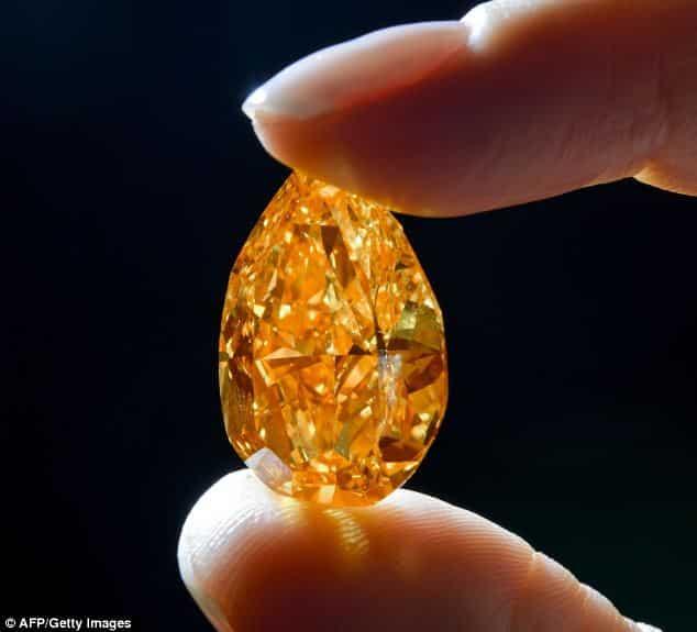 Haruni fine gems orange diamond