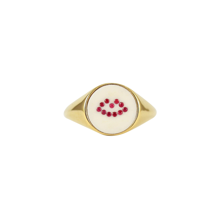The Pommier Lee Renee lip signet ring £225 www.thepommier.com