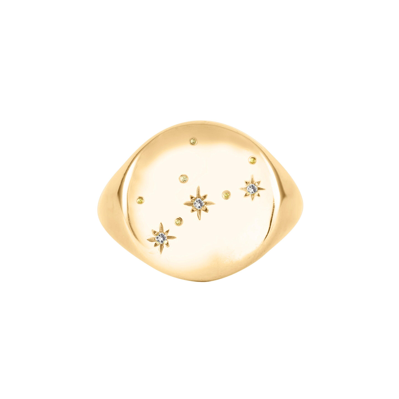 The Pommier Virgo gold constellation ring hires www.thepommier.com