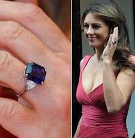 elizabeth hurley engagement ring