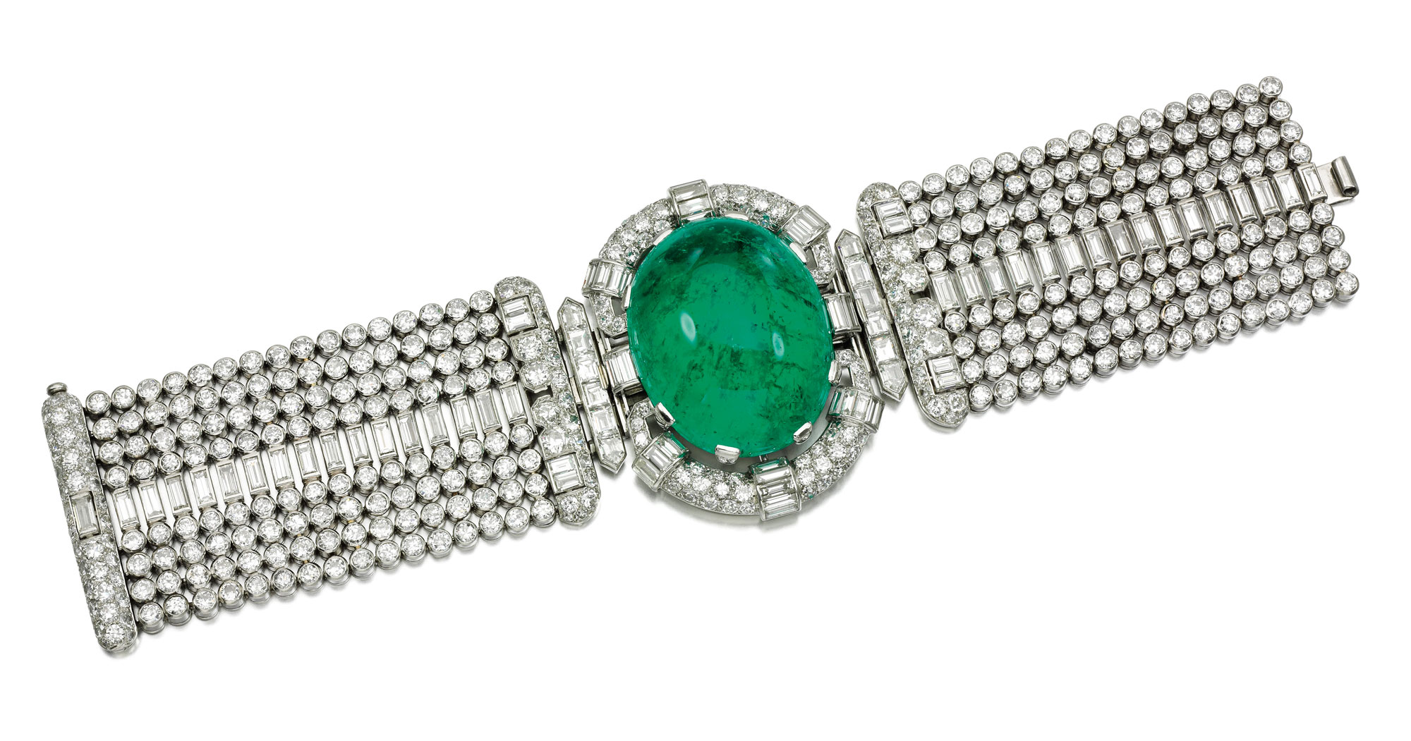 emerald and diamon bracelet - credit Sotheby's-1