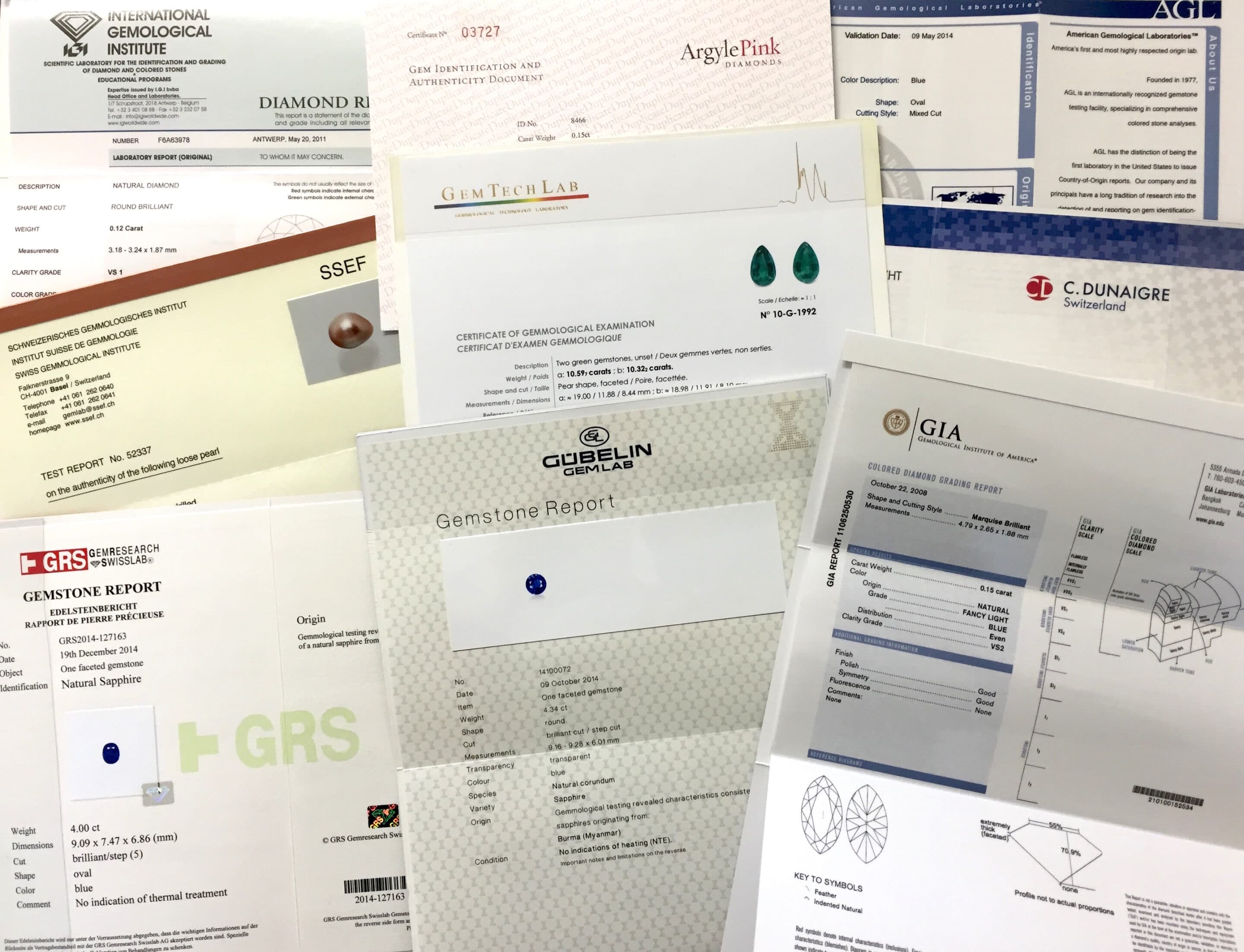 Gem Reports and Certificates