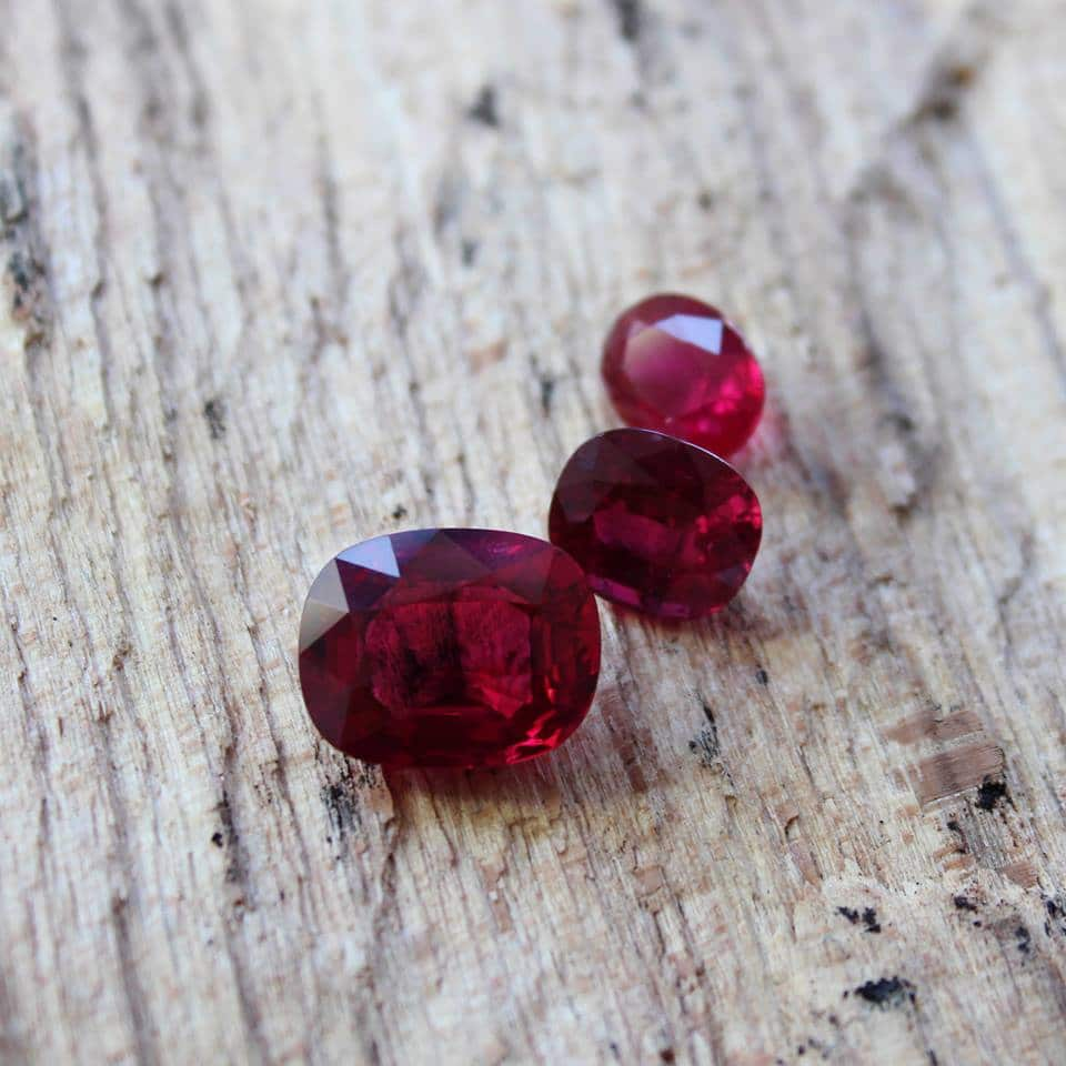 haruni fine gems rubies red