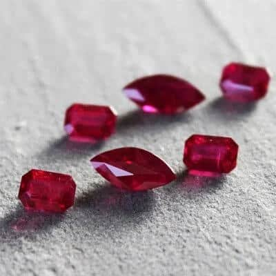 Ruby Sizes and Weights