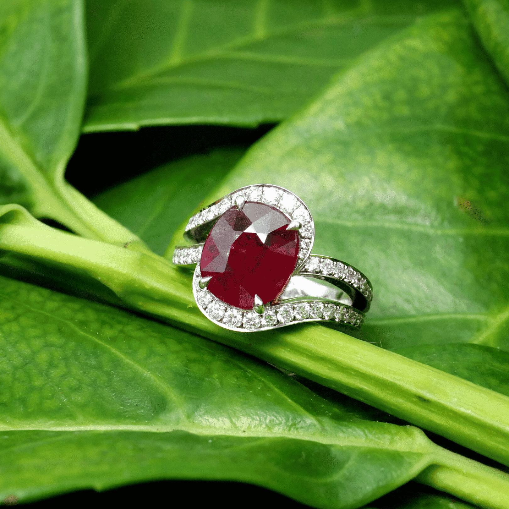 Felipe's Customised Ruby Engagement Ring